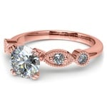 Edwardian Style Antique Diamond Engagement Ring in Rose Gold | Thumbnail 04