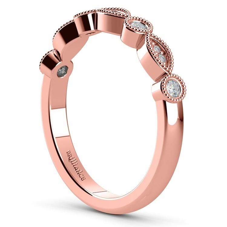 Edwardian Rose Gold Engagement Ring And Wedding Band | 05