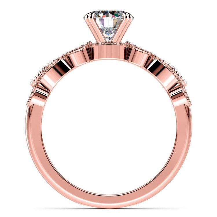 Edwardian Rose Gold Engagement Ring And Wedding Band | 02