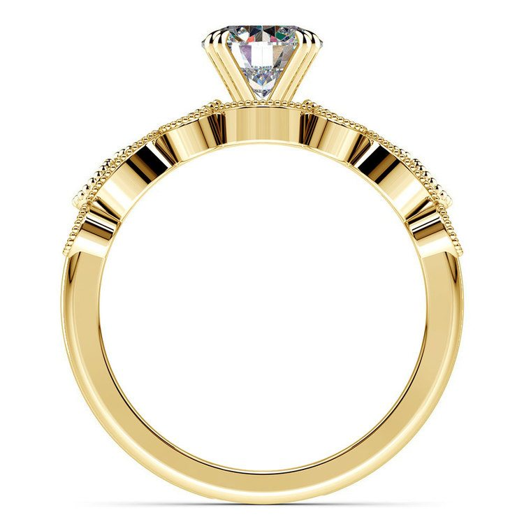 Edwardian Style Engagement Ring And Wedding Band In Yellow Gold | 02