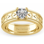 Elysium Solitaire Mangagement™ Ring in Yellow Gold (1 ctw) | Thumbnail 01