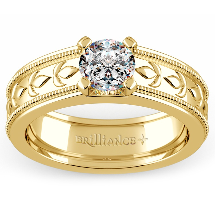 Elysium Solitaire Mangagement™ Ring in Yellow Gold (1 ctw) | 01