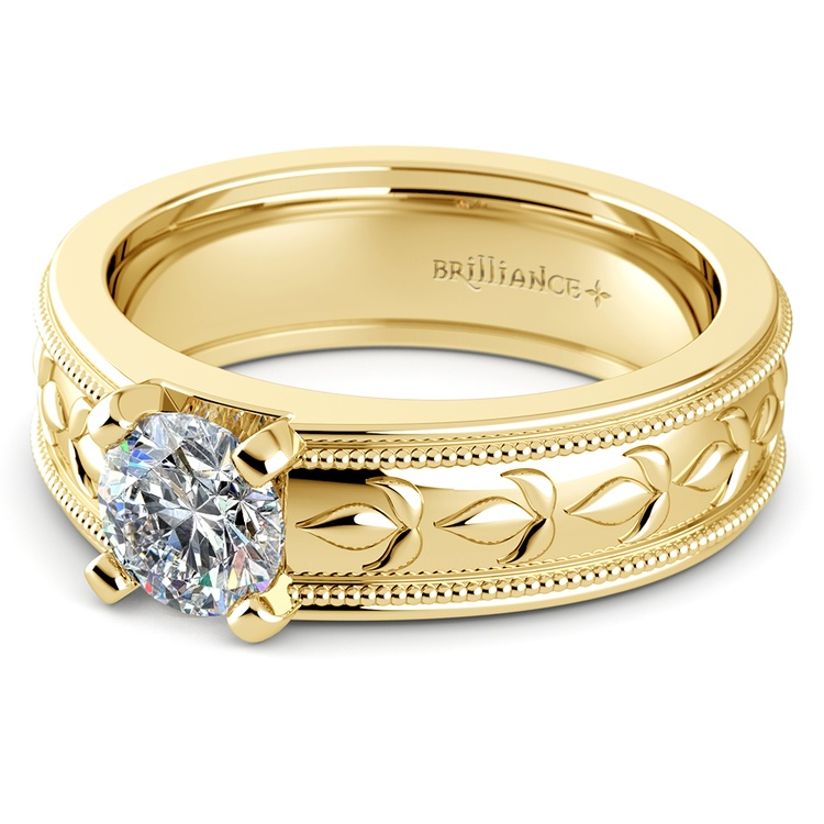 Elysium Solitaire Mangagement™ Ring in Yellow Gold (1 ctw) | 04