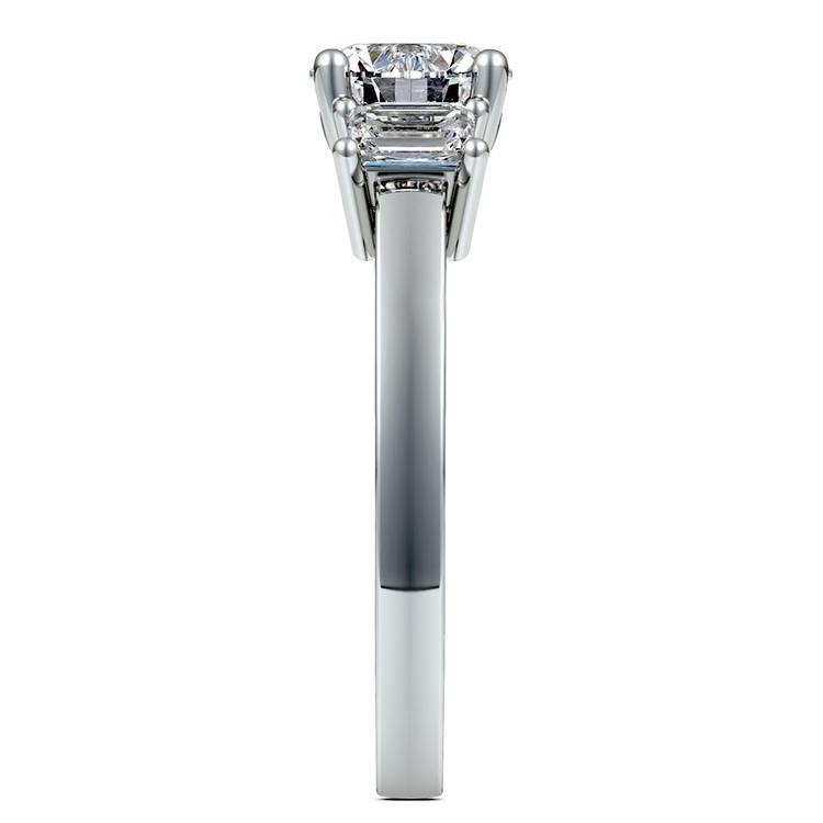 Emerald Diamond Engagement Ring in Platinum (1/2 ctw) | 03