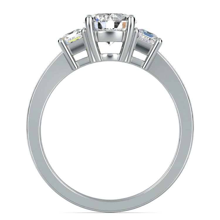 Emerald Diamond Engagement Ring in White Gold (1/2 ctw) | 02
