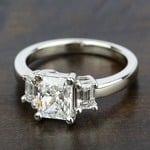 Emerald Diamond Engagement Ring in White Gold | Thumbnail 05