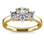 Emerald Diamond Engagement Ring in Yellow Gold | Thumbnail 01