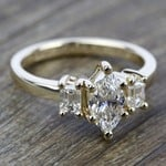 Emerald Diamond Engagement Ring in Yellow Gold | Thumbnail 05