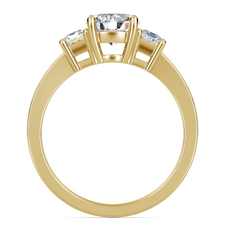 Emerald Diamond Engagement Ring in Yellow Gold | 02
