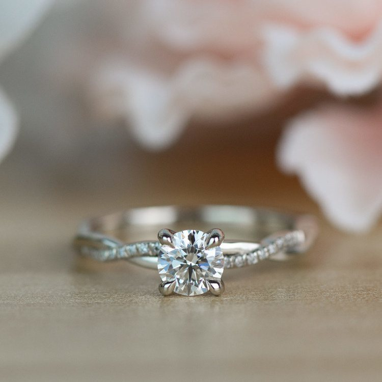 Twisted Band Engagement Ring In Platinum | 05