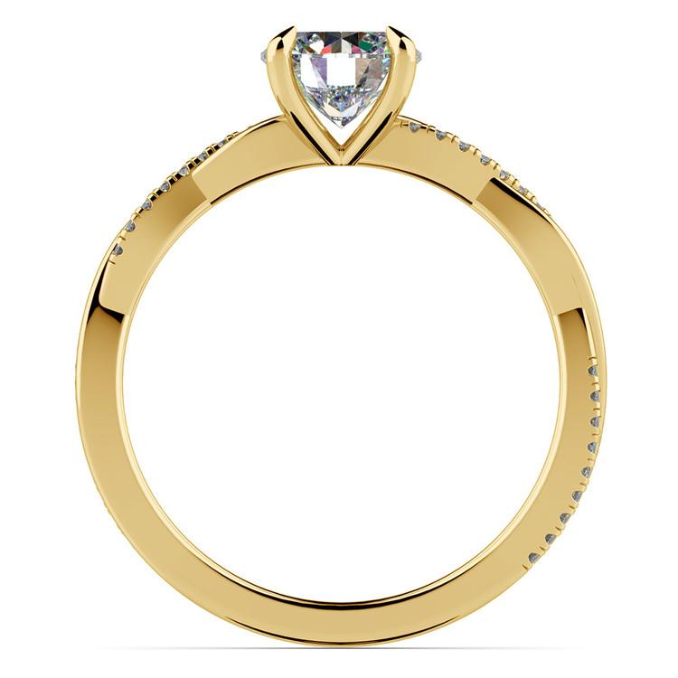 Twisted Band Engagement Ring In Yellow Gold | 02