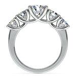 Five Stone Moissanite Ring in White Gold (6.5 mm) | Thumbnail 04