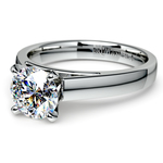 Flat Cathedral Solitaire Engagement Ring in White Gold (3mm) | Thumbnail 04