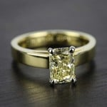 Flat Cathedral Solitaire Engagement Ring in Yellow Gold (3mm) | Thumbnail 05