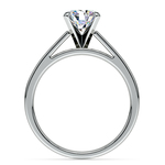 Flat Cathedral Solitaire Engagement Ring in Platinum (4mm) | Thumbnail 02