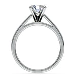 Flat Cathedral Solitaire Engagement Ring in White Gold (4mm) | Thumbnail 02