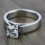 Flat Cathedral Solitaire Engagement Ring in White Gold (4mm) | Thumbnail 05