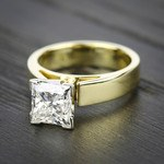 Flat Cathedral Solitaire Engagement Ring in Yellow Gold (4mm) | Thumbnail 05