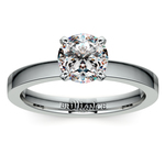 Flat Solitaire Engagement Ring In Platinum (2.5mm) | Thumbnail 01