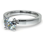 Flat Solitaire Engagement Ring In Platinum (2.5mm) | Thumbnail 04