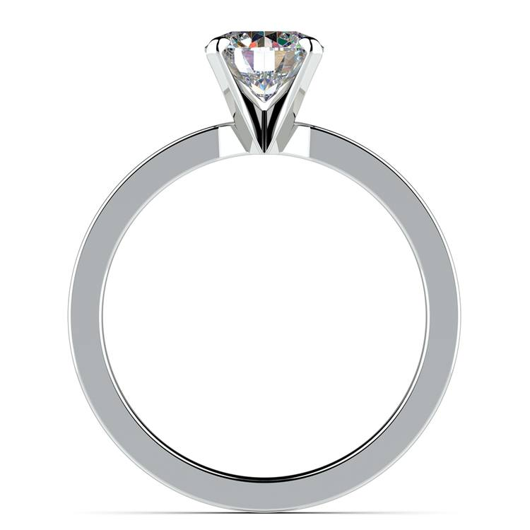 Flat Solitaire Engagement Ring In Platinum (2.5mm) | 02