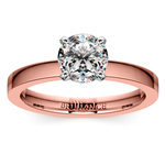 Flat Solitaire Engagement Ring In Rose Gold (2.5mm) | Thumbnail 01