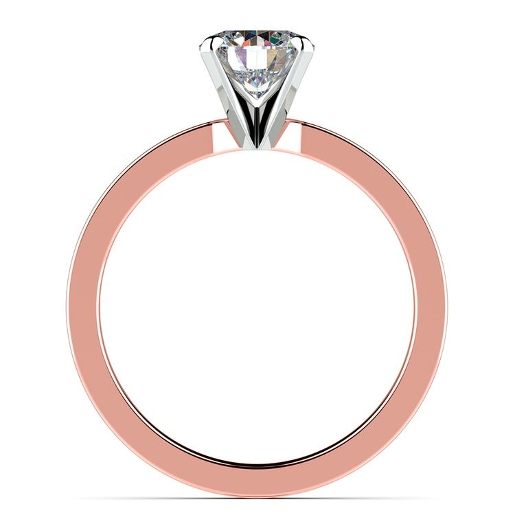 Flat Solitaire Engagement Ring In Rose Gold (2.5mm) | 02
