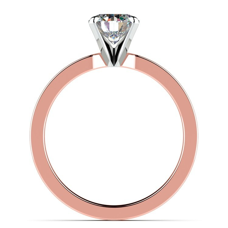 Flat Solitaire Engagement Ring In Rose Gold (3mm) | 02