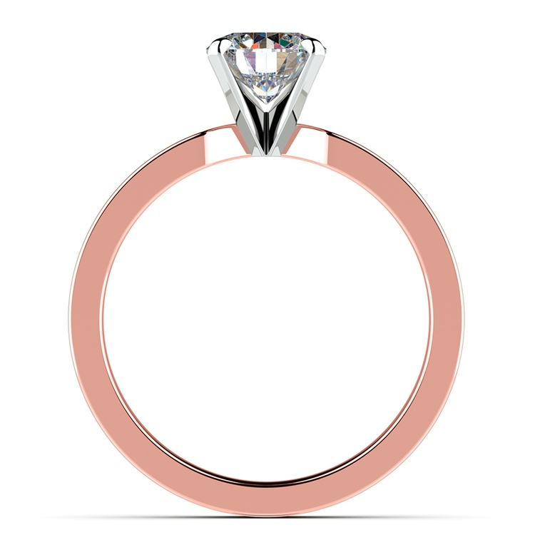 Flat Solitaire Engagement Ring In Rose Gold (4mm) | 02