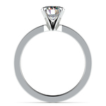 Flat Solitaire Engagement Ring in White Gold (2.5mm) | Thumbnail 02