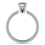 Flat Solitaire Engagement Ring in White Gold (3mm) | Thumbnail 02