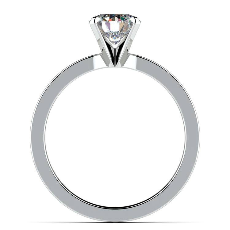 Flat Solitaire Engagement Ring in White Gold (3mm) | 02
