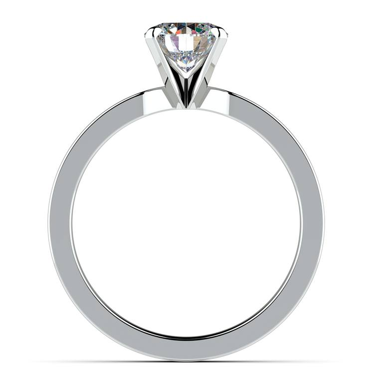 Flat Solitaire Engagement Ring In White Gold (4mm) | 02
