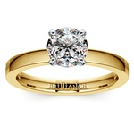 Flat Solitaire Engagement Ring in Yellow Gold (2.5mm) | Thumbnail 01
