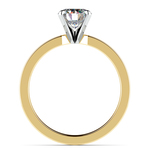 Flat Solitaire Engagement Ring in Yellow Gold (2.5mm) | Thumbnail 02