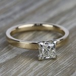 Flat Solitaire Engagement Ring in Yellow Gold (2.5mm) | Thumbnail 05