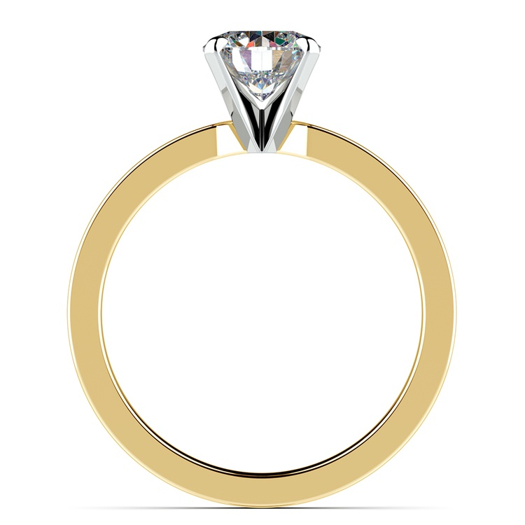 Flat Solitaire Engagement Ring in Yellow Gold (2.5mm) | 02