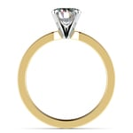 Flat Solitaire Engagement Ring in Yellow Gold (3mm) | Thumbnail 02