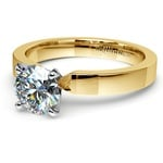 Flat Solitaire Engagement Ring in Yellow Gold (3mm) | Thumbnail 04