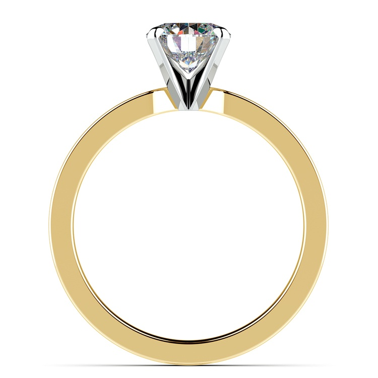 Flat Solitaire Engagement Ring in Yellow Gold (3mm) | 02