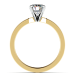 Flat Solitaire Engagement Ring In Yellow Gold (4mm) | Thumbnail 02