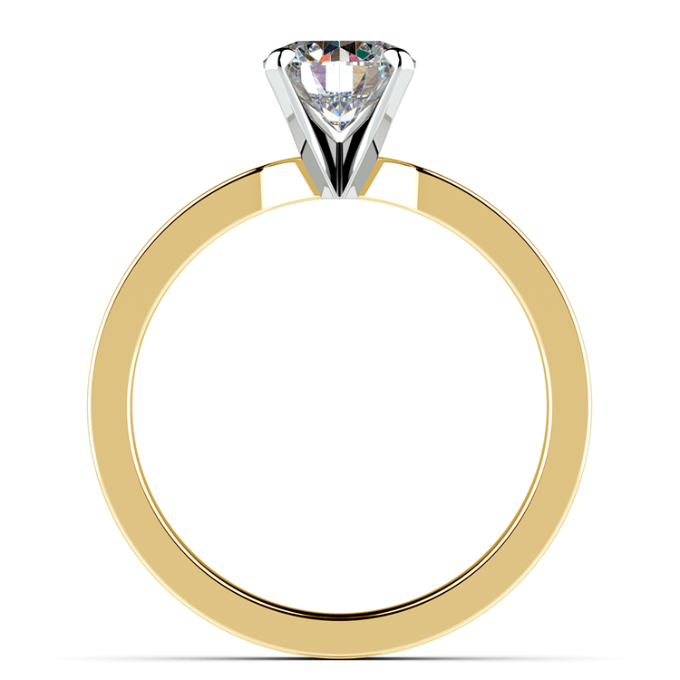 Flat Solitaire Engagement Ring In Yellow Gold (4mm) | 02