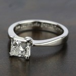 Flat Taper Solitaire Engagement Ring in Palladium | Thumbnail 05
