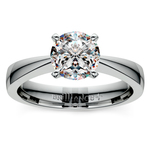 Flat Taper Solitaire Engagement Ring in White Gold | Thumbnail 01