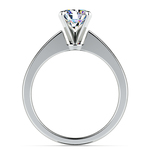Flat Taper Solitaire Engagement Ring in White Gold | Thumbnail 02