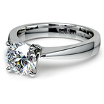 Flat Taper Solitaire Engagement Ring in White Gold | Thumbnail 04