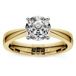 Flat Taper Solitaire Engagement Ring in Yellow Gold | Thumbnail 01