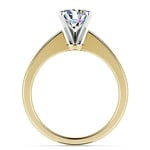 Flat Taper Solitaire Engagement Ring in Yellow Gold | Thumbnail 02