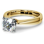Flat Taper Solitaire Engagement Ring in Yellow Gold | Thumbnail 04