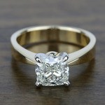 Flat Taper Solitaire Engagement Ring in Yellow Gold | Thumbnail 05
